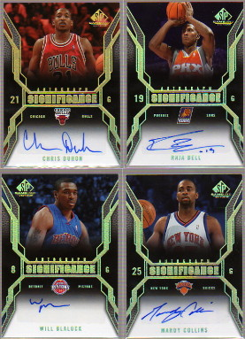 2007-08 SP Game Used SIGnificance #SICD Chris Duhon