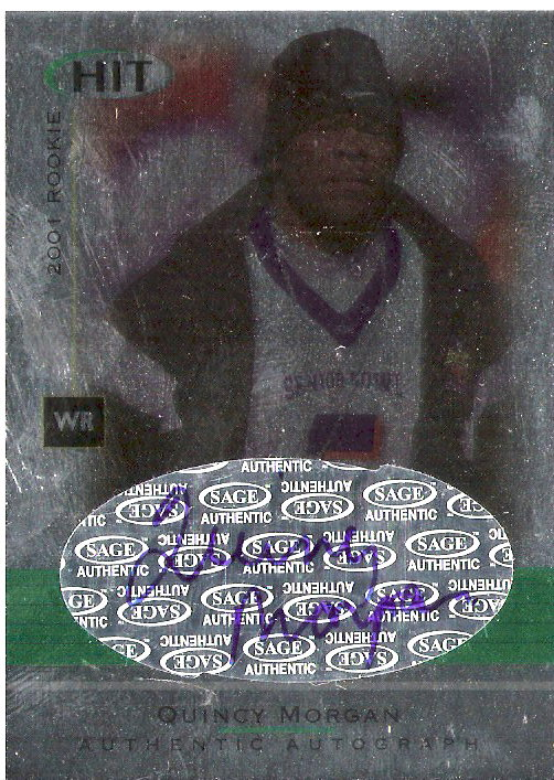 2001 SAGE HIT Autographs Foilboard #A50 Quincy Morgan