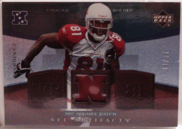 2007 Artifacts NFL Artifacts Patch #NFLAB Anquan Boldin