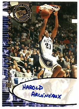 2000 Press Pass Autographs #32 Harold Arleneaux*