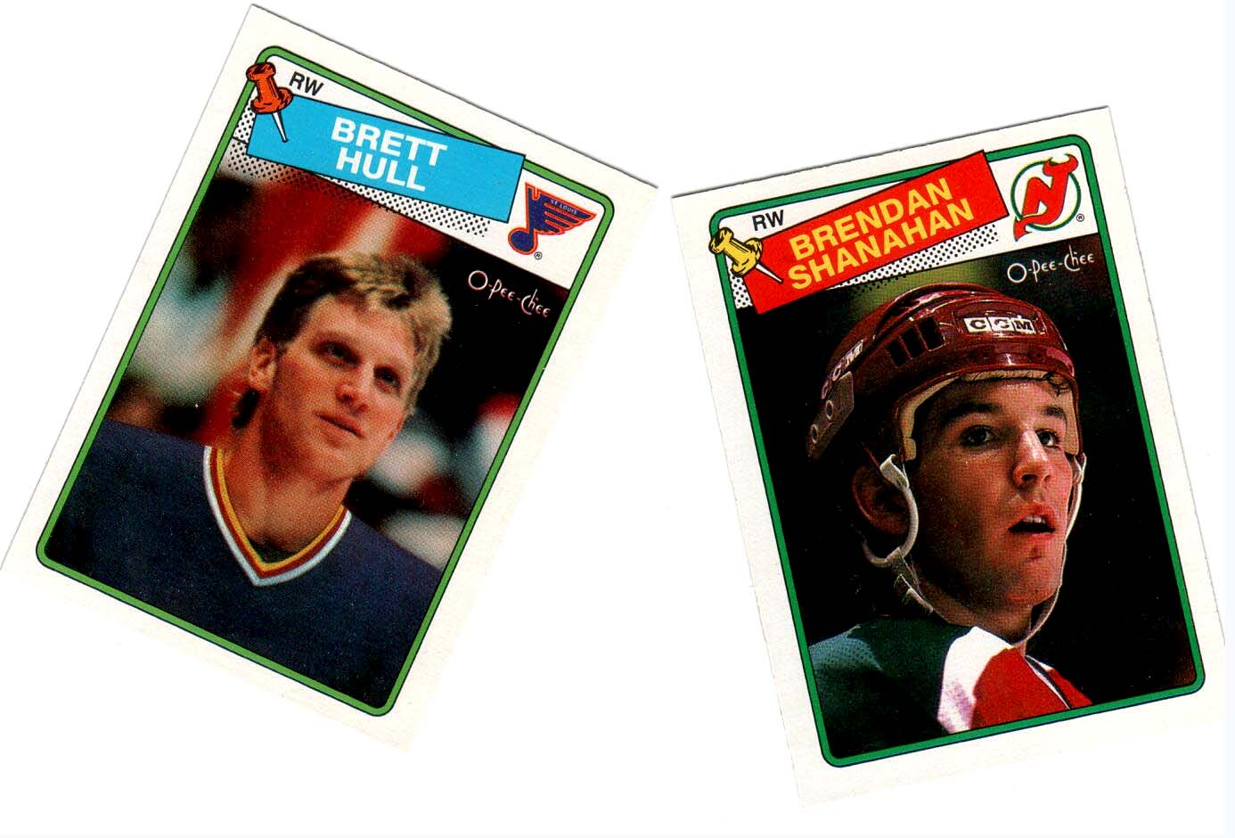 1988-89 O-PEE-CHEE HOCKEY COMPLETE MINT SET - SHANAHAN/HULL ROOKIE CARDS