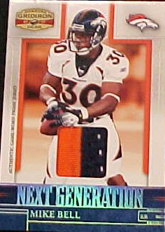 2007 Donruss Gridiron Gear Next Generation Jerseys Prime #25 Mike Bell