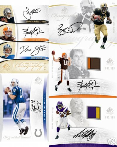2007 Upper Deck SP Authentic Football Factory Sealed Hobby Box - 3 Autographs ( Poss. Brett Favre ) Per Box On Avg. & Possible Adrian Peterson Autograph Patch Card - In Stock Now      front image