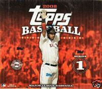 2008 Topps Series 1 Baseball Factory Sealed HTA Hobby JUMBO Box - 1 Autograph & 1 Relic Card ( Poss. Mickey Mantle & Alex Rodriguez ) Per Box On Avg. & Possible Cut Signatures - In Stock Now  front image