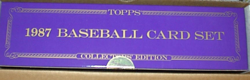 1987 TOPPS TIFFANY FACTORY BASEBALL COMPLETE SET W/BARRY BONDS ROOKIE