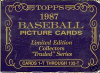 1987 TOPPS TIFFANY TRADED COMPLETE FACTORY BASEBALL SET - GREG MADDUX ROOKIE