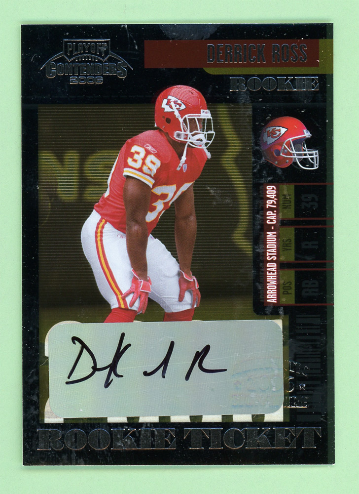 2006 Playoff Contenders #135 Derrick Ross AU/250* RC