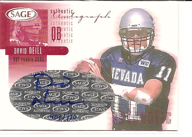 2002 SAGE Autographs Red #A29 David Neill/770