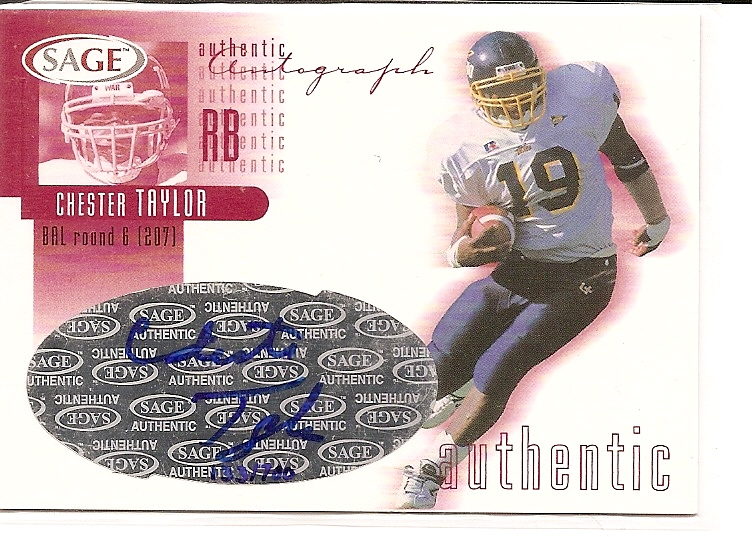 2002 SAGE Autographs Red #A41 Chester Taylor/700