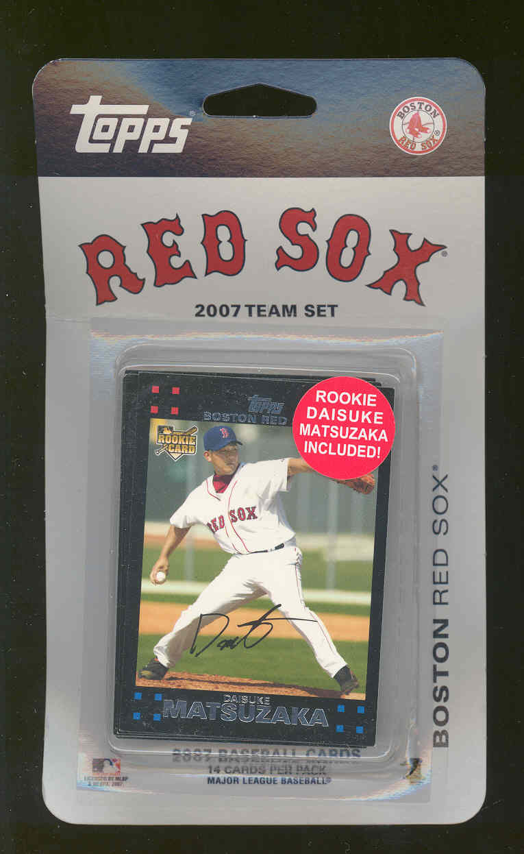 2007 Topps Red Sox World Series Champs Sealed Team Set w/ Daisuke Matsuzaka Rookie David Ortiz Manny Ramirez Jason Varitek Josh Beckett Curt Schilling Mike Lowell Jonathan Papelbon and others