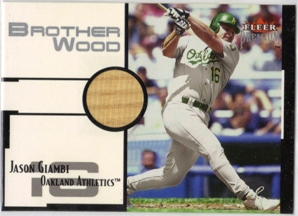 2001 Fleer Premium Brother Wood #BW5 Jason Giambi