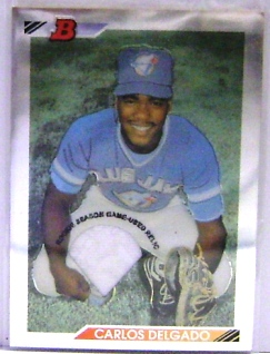 2001 Bowman Chrome Rookie Reprints Relics #5 Carlos Delgado Jsy