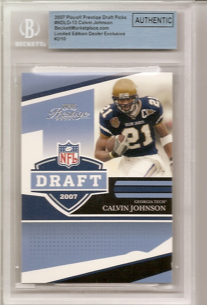2007 Playoff Prestige NFL Draft #13 Calvin Johnson front image