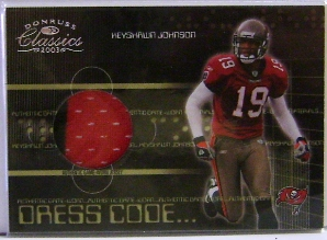 2003 Donruss Classics Dress Code Jerseys #DC7 Keyshawn Johnson