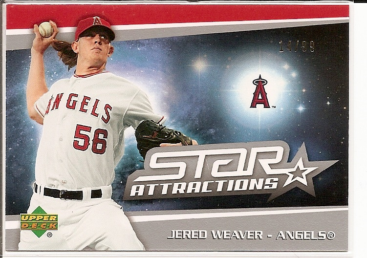 2006 Upper Deck Star Attractions Silver #JW Jered Weaver UPD