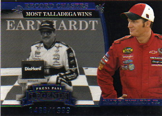 2006 Press Pass Legends Blue #B47 Dale Sr./Dale Jr. REC