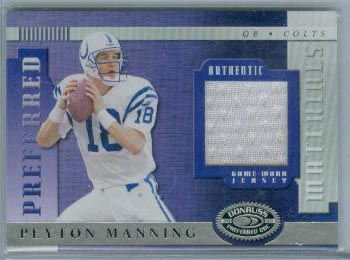 2000 Donruss Preferred Materials #PM36 Peyton Manning J/100