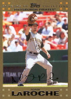 2007 Topps Update Gold #9 Adam LaRoche
