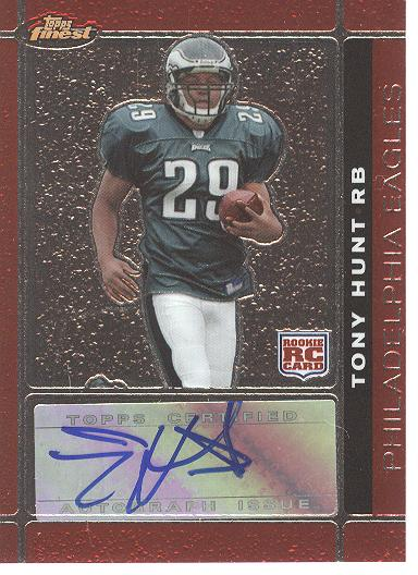2007 Finest Rookie Autographs #123 Tony Hunt G