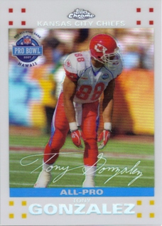 2007 Topps Chrome White Refractors #TC48 Tony Gonzalez PB