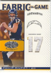 2007 Leaf Certified Materials Fabric of the Game Jersey Number #74 Philip Rivers/17
