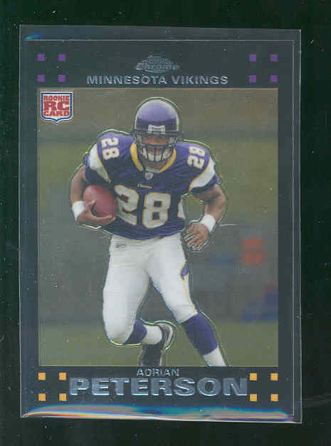 2007 Topps Chrome #TC181 Adrian Peterson Minnesota Vikings Running Back Rookie RC