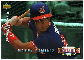 1994 Upper Deck Mantle's Long Shots Electric Diamond #MM16 Manny Ramirez