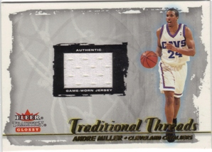 2000-01 Fleer Glossy Traditional Threads #11 Andre Miller