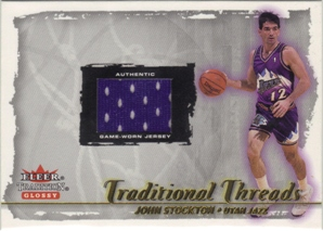 2000-01 Fleer Glossy Traditional Threads #17 John Stockton