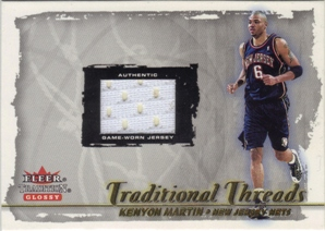 2000-01 Fleer Glossy Traditional Threads #26 Kenyon Martin