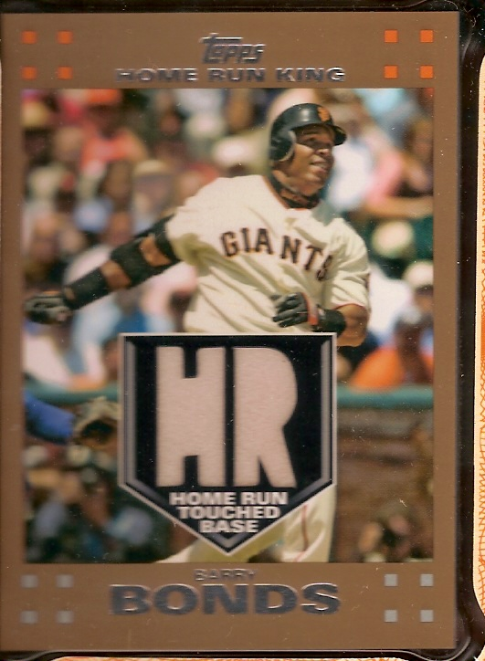 2007 Topps Baseball Factory Set with Bonus Barry Bonds Home Run - Touched Base Card!  Features all 661 cards plus 10 Bonus cards like Ryan Braun, Daisuke Matsuzaka, Tim Lincecum, Phillip Hughes, etc.