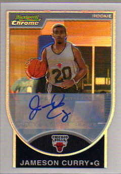 2007-08 Bowman Chrome Refractors Rookie Autographs #136 JamesOn Curry AU
