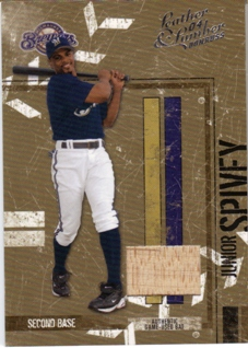 2004 Leather and Lumber Materials Bat #76 Junior Spivey/100