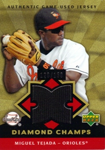 2004 Sweet Spot Diamond Champs Jersey #MT Miguel Tejada