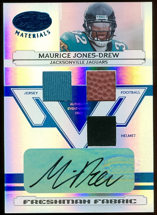 2006 Leaf Certified Materials Mirror Blue Materials #207 Maurice Drew AU