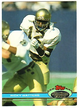 1991 Stadium Club #60 Ricky Watters RC