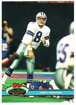 1991 Stadium Club #228 Troy Aikman
