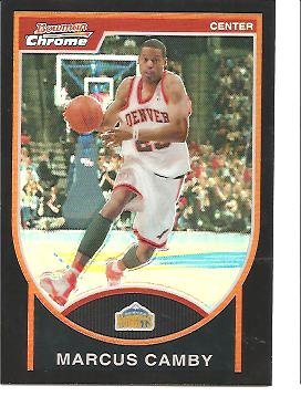 2007-08 Bowman Chrome Refractors Black #46 Marcus Camby