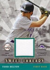 2004 Sweet Spot Sweet Threads #HE Todd Helton