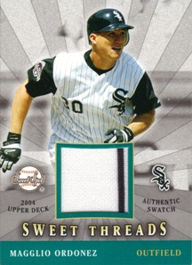2004 Sweet Spot Sweet Threads #MO Magglio Ordonez