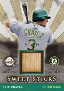 2004 Sweet Spot Sweet Sticks #EC Eric Chavez