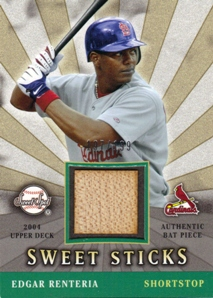 2004 Sweet Spot Sweet Sticks #ER Edgar Renteria