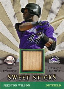 2004 Sweet Spot Sweet Sticks #PW Preston Wilson