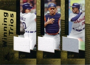 2007 SPx Winning Trios Gold #WT22 Magglio Ordonez/Ivan Rodriguez/Curtis Granderson