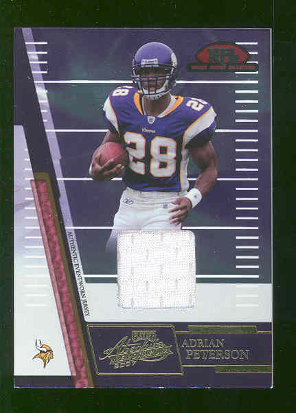 2007 Absolute Memorabilia Rookie Jersey Collection #18 Adrian Peterson