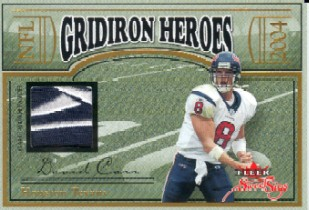 2004 Fleer Sweet Sigs Gridiron Heroes Jersey Duals #CJ David Carr/34/Andre Johnson