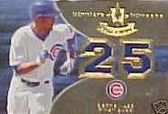 2007 Ultimate Collection Ultimate Numbers Materials #DL Derrek Lee/25