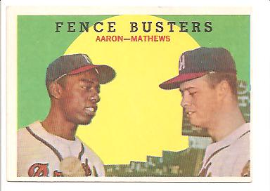 1959 Topps #212 Fence Busters/Hank Aaron/Eddie Mathews
