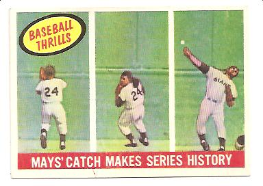 1959 Topps #464 Willie Mays BT/Catch