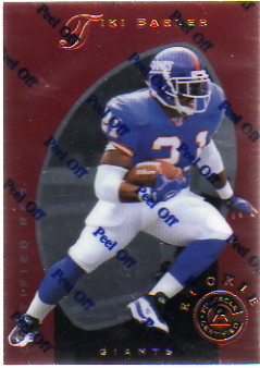 1997 Pinnacle Certified Red #129 Tiki Barber
